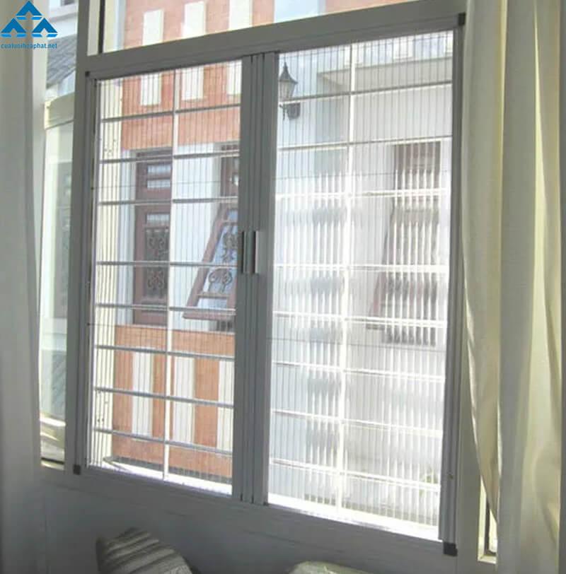 Cửa lưới chống muỗi cửa sổ dạng lùa 2 cánh của Hòa Phát