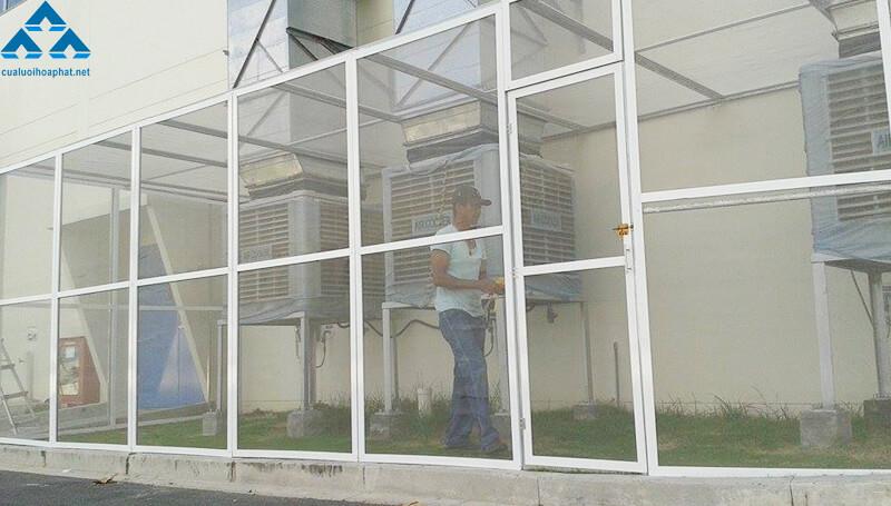 Cửa chống muỗi mặt thoáng cố định
