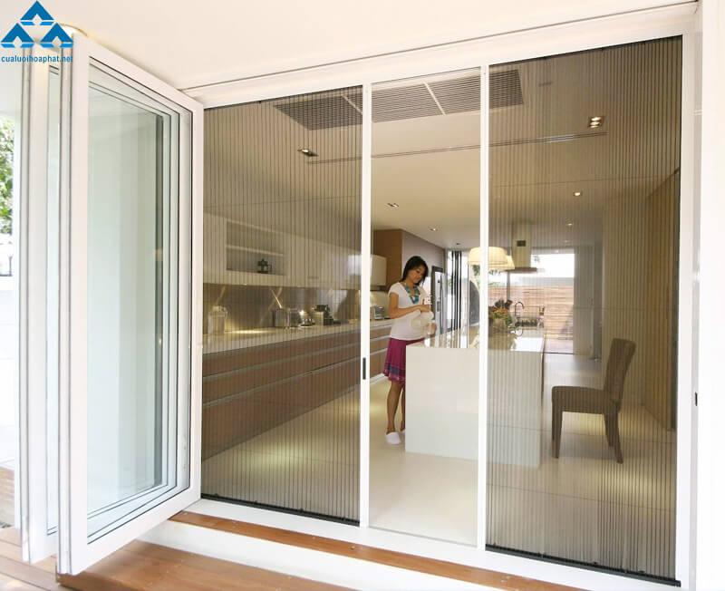 Cửa lưới chống muỗi mặt thoáng cho căn hộ cao cấp