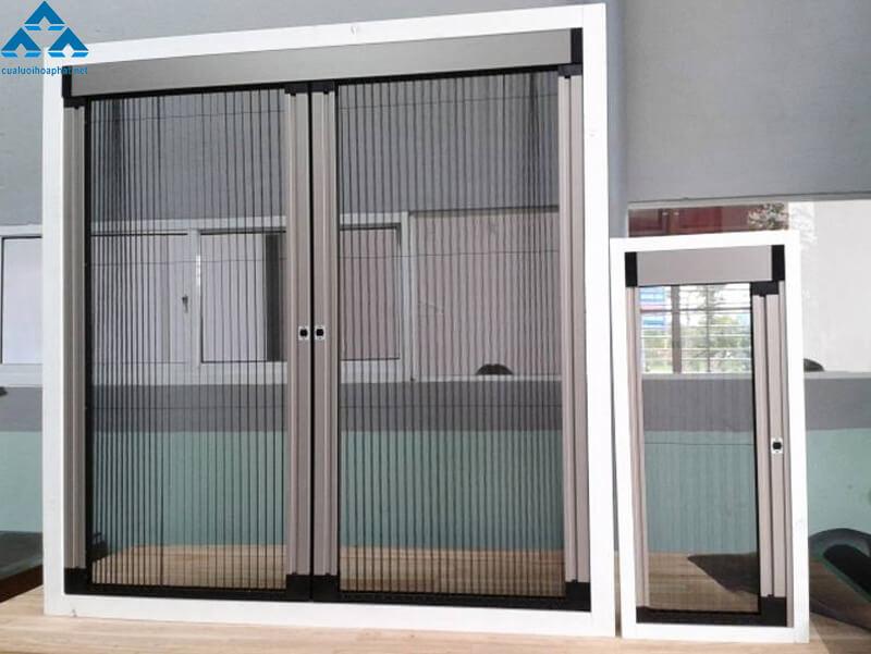 Hình ảnh chi tiết về bộ cửa lưới chống muỗi Hòa Phát